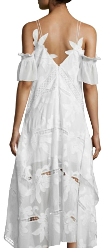 2cf0be42837b5 self-portrait White Floral Embroidered Midi 23117943 Mid-length ...