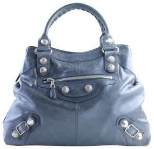 Balenciaga Giant Arena Town City First Tote in Charcoal