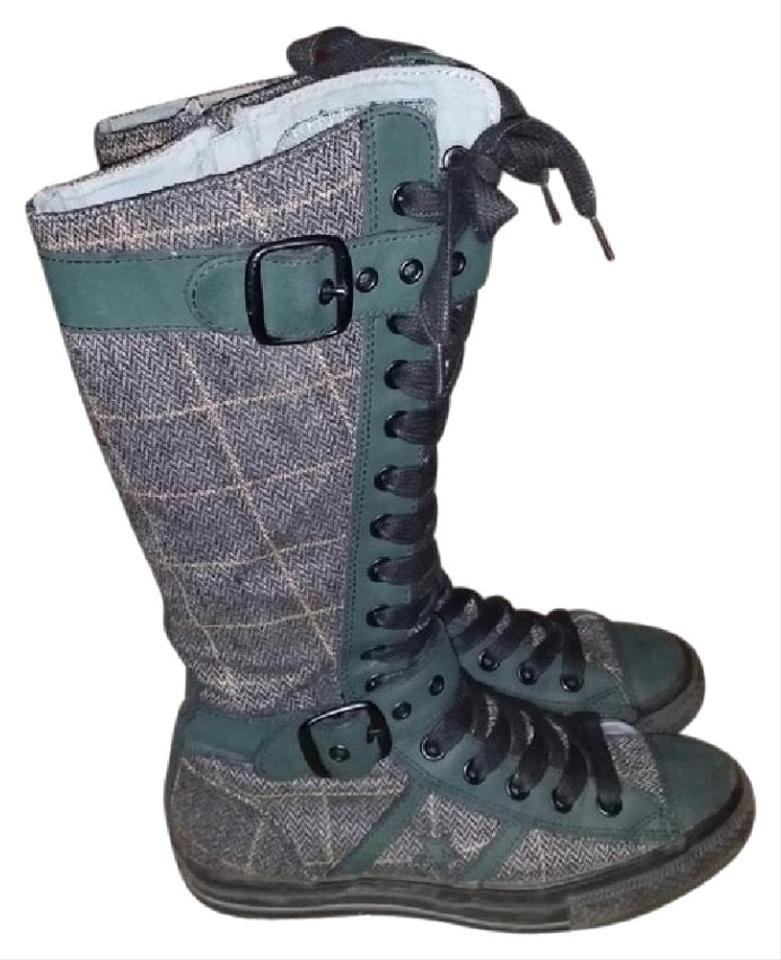 8d76eaf0596f13 Converse Green Super Crazy Rare English Chuck Taylor Thigh High Sneaker  Boots 7.5. Sneakers