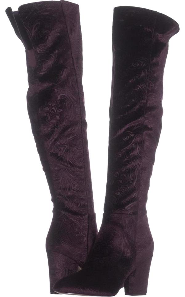7c70e96fee7 Nine West Purple Siventa Over The Knee 606 Boots Booties Size US 8 ...