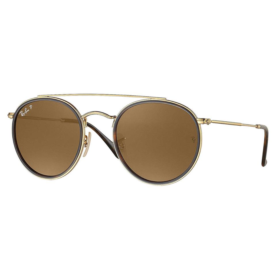d8fb0ac416 ... where can i buy ray ban ray ban round double bridge polarized sunglasses  gold brown rb3647n