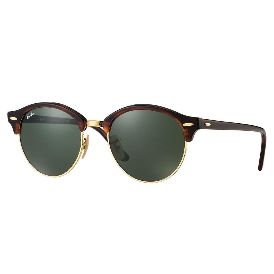 68480423eb Ray-Ban Ray-Ban-Clubround Classic Sunglasses Tortoise  Green RB4246 Image 0  ...