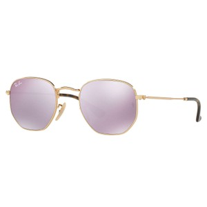 d34b9d956049e Ray-Ban Ray-Ban-Hexagonal Flat Lenses Sunglasses Gold  Lilac Flash RB3548N