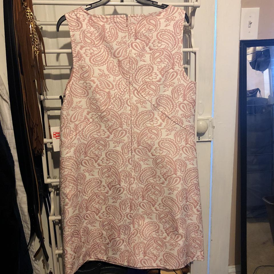 e1afd5e165fe Victoria Beckham for Target Pink and White Mid-length Work Office Dress  Size 12 (L) - Tradesy