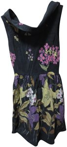 Corey Lynn Calter short dress Black with flowers Anthropologie Silk Floral Print on Tradesy