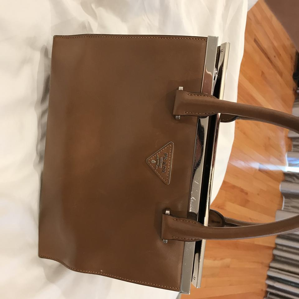 Prada Prada Leather Satchel Camel Colored Satchel Colored Camel Leather Prada xpAnFC