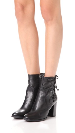 SCHUTZ Over The Knee Leather Detachable Laced Ankle Black Boots Image 1