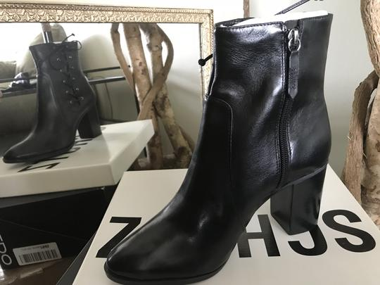 SCHUTZ Over The Knee Leather Detachable Laced Ankle Black Boots Image 4