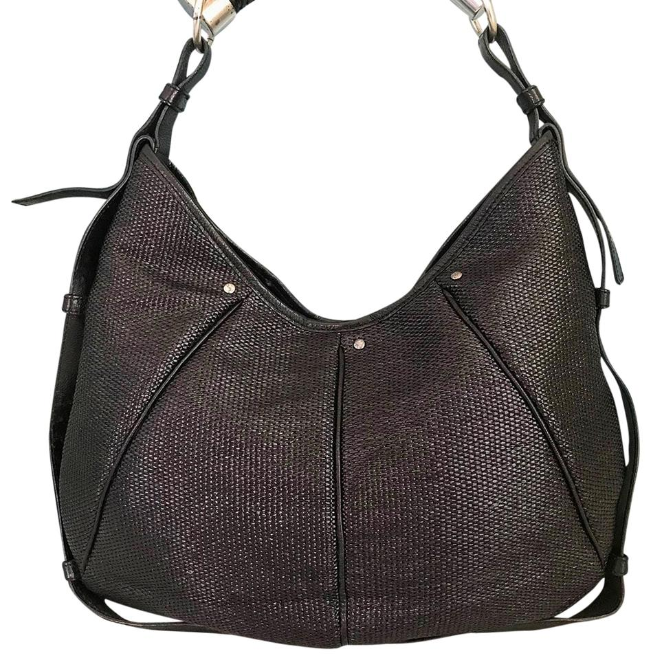 e1989cea60e Saint Laurent Yves Woven Straw Horn Mombasa Shoulder Bag Image 0 ...