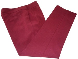 Talbots Signature Trouser Pants Burgundy