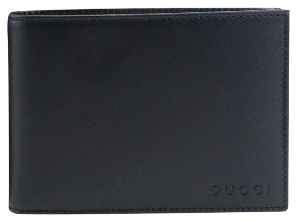 54f9f51fbf70f7 Gucci Gucci Dark Blue Leather Bifold Wallet with Coin Pocket 292534 4009  Image 0 ...