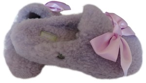 UGG Australia Slipper Slip On Sheepskin Rubber Sole Lavender Mules