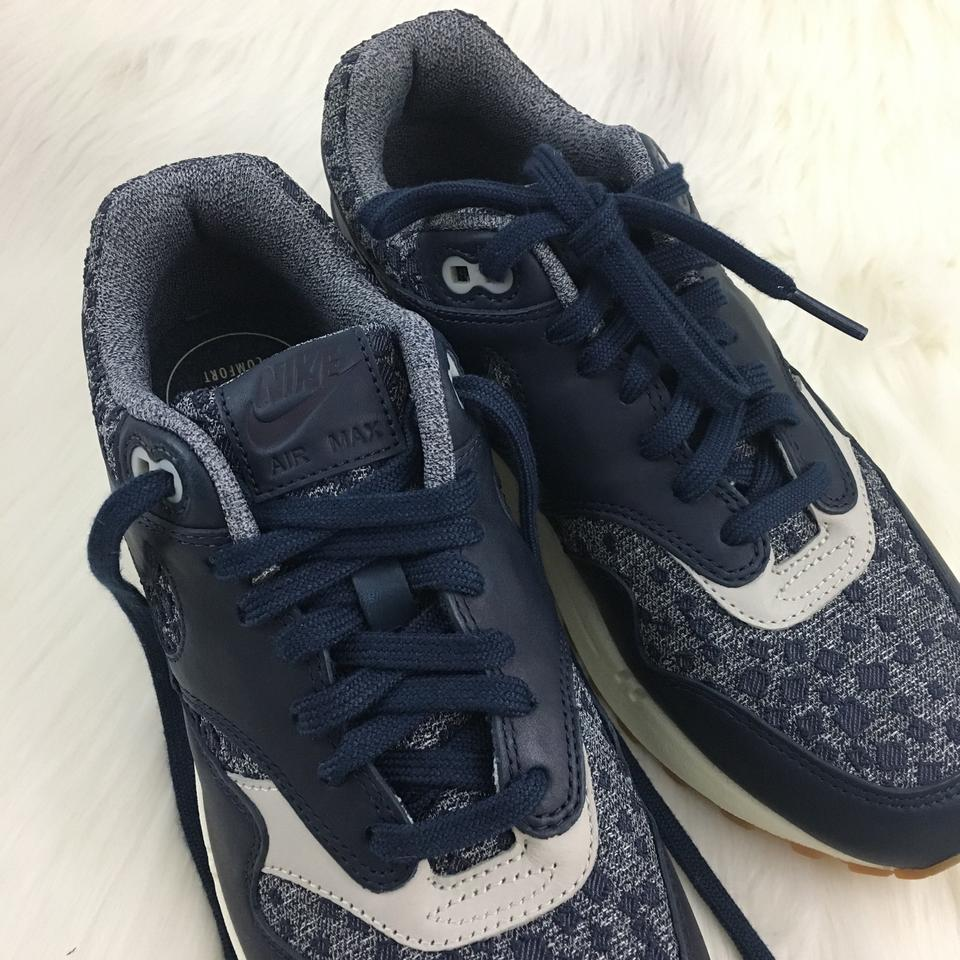 Nike Air Max 1 Premium Midnight Navy 454746 403 Sneaker