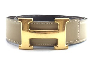 Hermès 32Mm Classic Gold H Reversible Belt leather Size 70