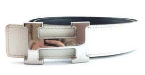 Hermès 32Mm Classic Silver H Reversible Belt leather Size 80