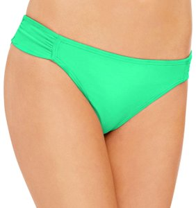 Hula Honey Hula Honey Women's Side-Tab Hipster Bikini Bottom, Mint, XL