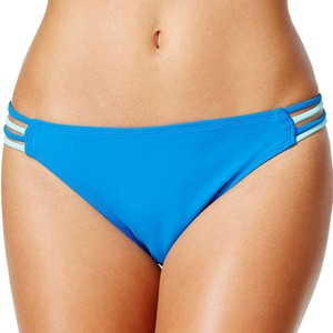 Hula Honey Hula Honey Women's Strappy Hipster Bikini Bottoms, Cobalt Aqua, L