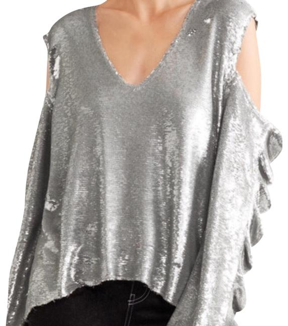 Item - Waleast Silver Sequined Top
