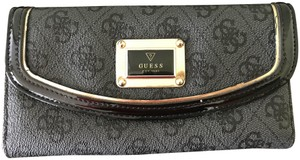 Guess Guess Black/Gray Leather wallet