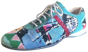 Prada Low Top Sneakers Size 9.5 Euro Size 40 Multi Color Athletic