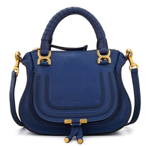 Chloé Studded Leather Tote in Blue
