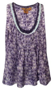 Tory Burch New Silk Embellished Tank Top Multi-Color