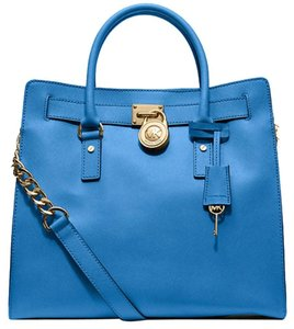Michael Kors Tote in Heritage Blue/Gold Hardware