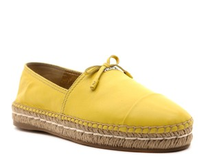 Prada Nappa Leather Yellow Flats