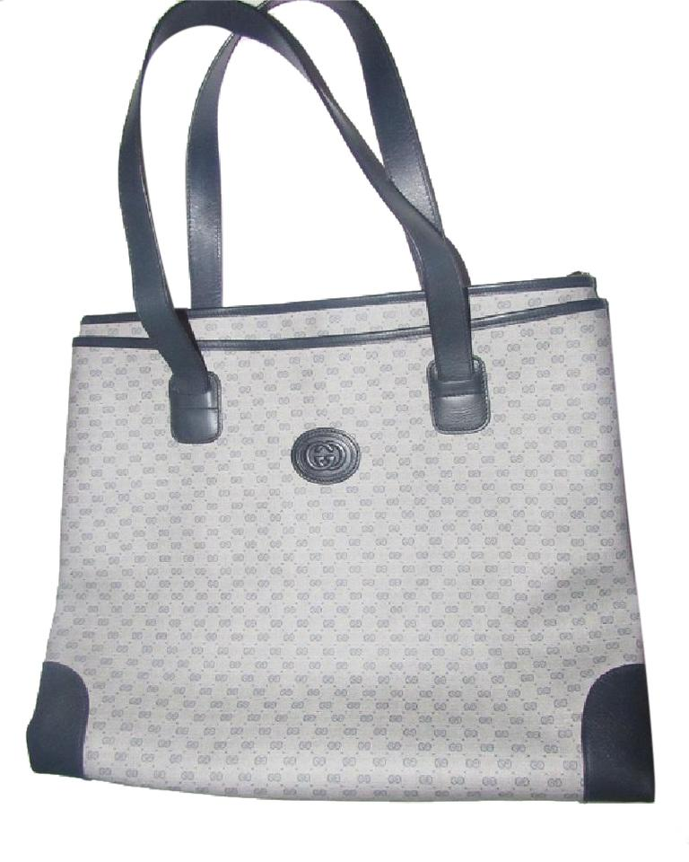 7c71b2763 Gucci Print Mint Vintage Multiple Compartment Supreme Tote in shades of blue  coated canvas with small ...