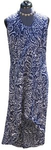 blue and white Maxi Dress by NIC+ZOE