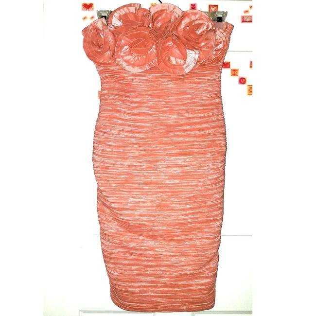 Item - Pearly Pink Coral He Loves Me He Loves Me Not Mid-length Formal Dress Size 12 (L)