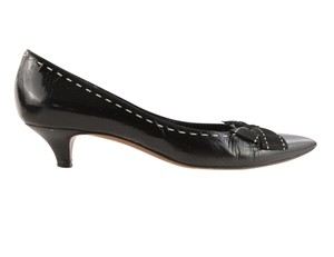 Moschino Pointed Bow Black Pumps