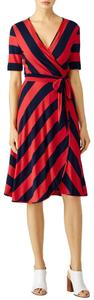 Tory Burch short dress Red and Navy Striped Nautical Designer on Tradesy