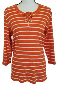 Tommy Hilfiger Striped 3/4 Sleeves Casual Everyday Sweater