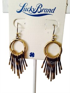 Lucky Brand NWT Two-Tone Paddle Earrings