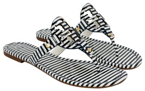 Tory Burch 37210 NAUTICAL STRIPES SMALL NAVY SEA/WHITE Sandals
