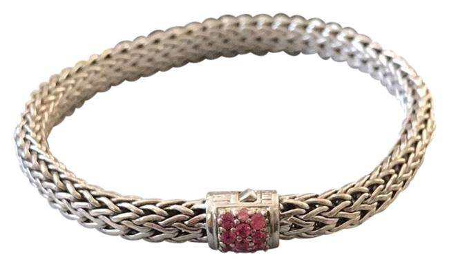 Item - Sterling Silver and Pink Classic Chain with Spinel Bracelet