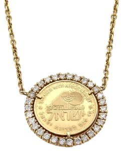 14k yellow gold isreal anniversary coin 280ct cubic zirconia other 14k yellow gold isreal anniversary coin 280ct cubic zirconia pendant aloadofball Image collections