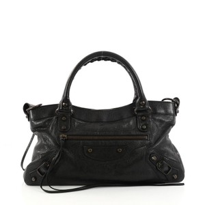Balenciaga Handbag Leather Satchel in Black