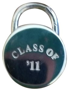 Tiffany & Co. RETIRED Tiffany Class of '11 Round Padlock Charm w/Box and Pouch