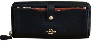 Coach Coach Multifunction Wallet With Checker Heart Print Black