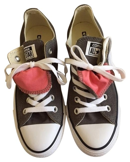 Item - Army Green/Pink Coral Double Tongue Sneakers Size US 7 Regular (M, B)