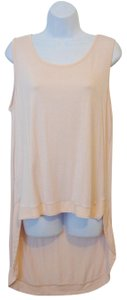 Montage Sleeveless Club Wear Hi-low Hem Scoop Neck Tunic