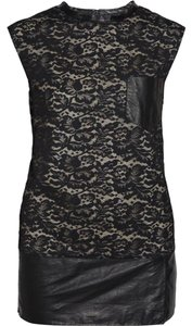 3.1 Phillip Lim short dress Black Leather Lace on Tradesy