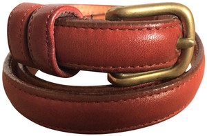 Coach Coach Classic Brass Buckle skinny soft Butter Leather Brown Belt