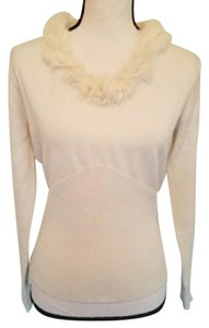 Axcess Liz Claiborne Rabbit Fur Fur Trim Genuine Fur Fur Sweater