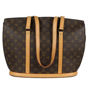 6eb264e4d47 Louis Vuitton Babylone Monogram Canvas Leather Weekend Travel Bags Tote in  Brown