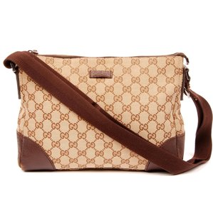 da26be50f9a Gucci Brown Multi Supreme 388926 Cross Body Beige   Red-green Web ...
