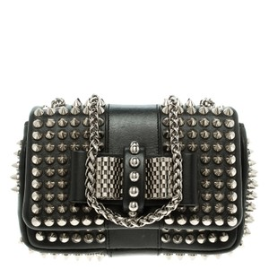 59f1f70e069 Added to Shopping Bag. Christian Louboutin Shoulder Bag. Christian Louboutin  Spiked Sweet Charity Black Leather ...