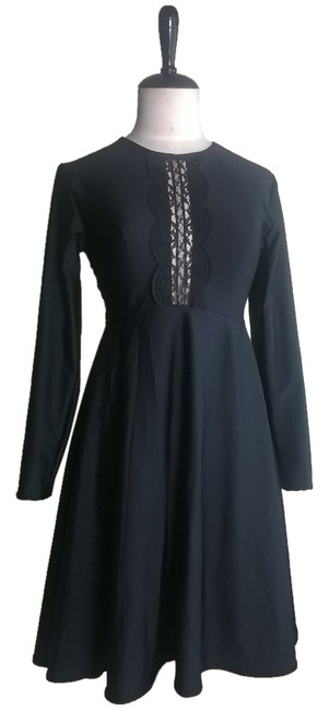 Lisa Nieves short dress black Lace Trim Stretchy Lycra Empire Waist Party Night Out Date Night Short on Tradesy